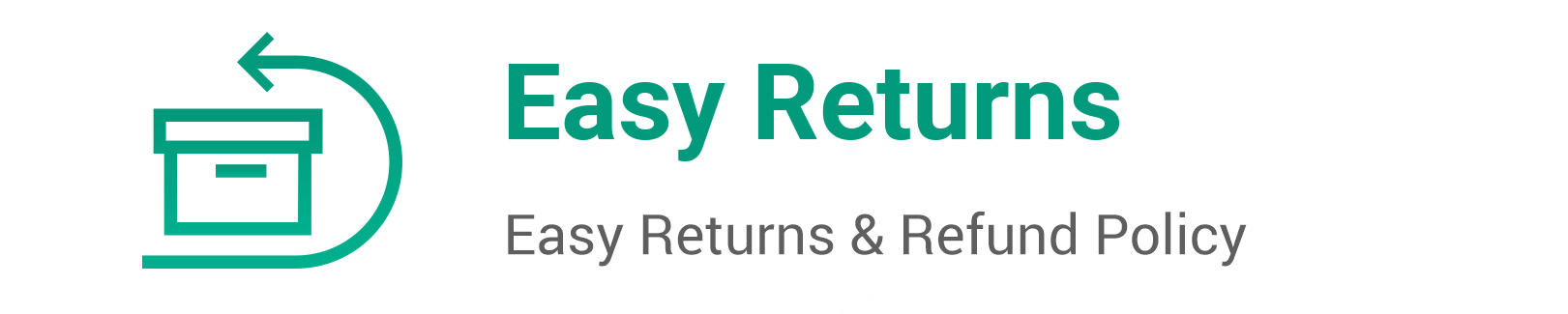 Easy Return & Refund